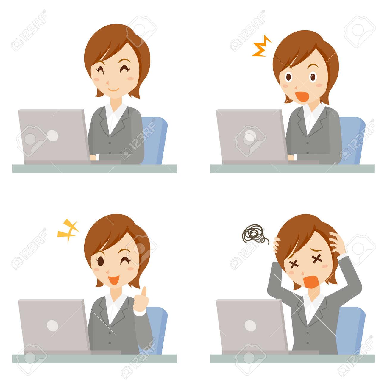 Women Business PC Pose Set - 168556971