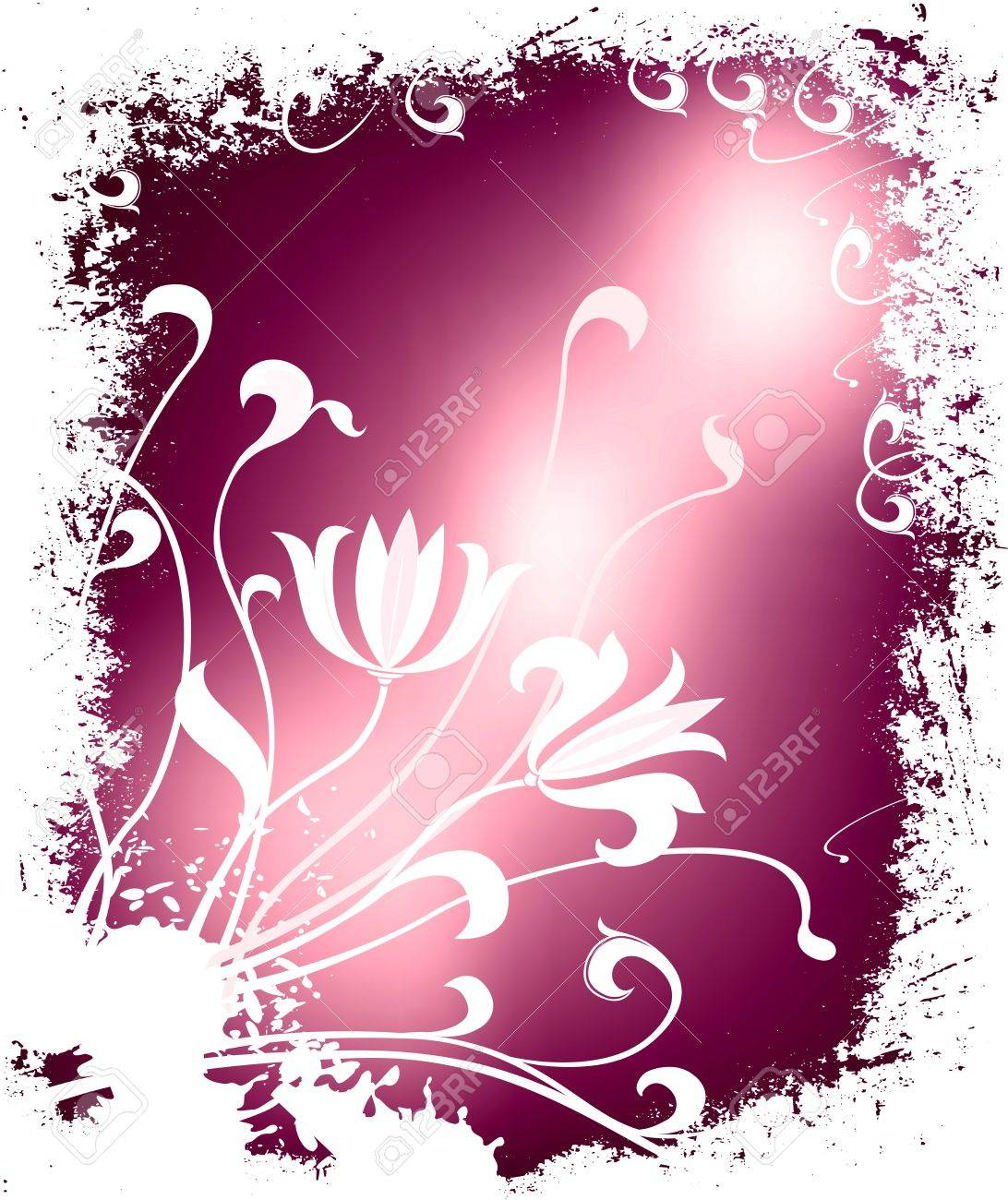winter floral illustration Stock Illustration - 730217
