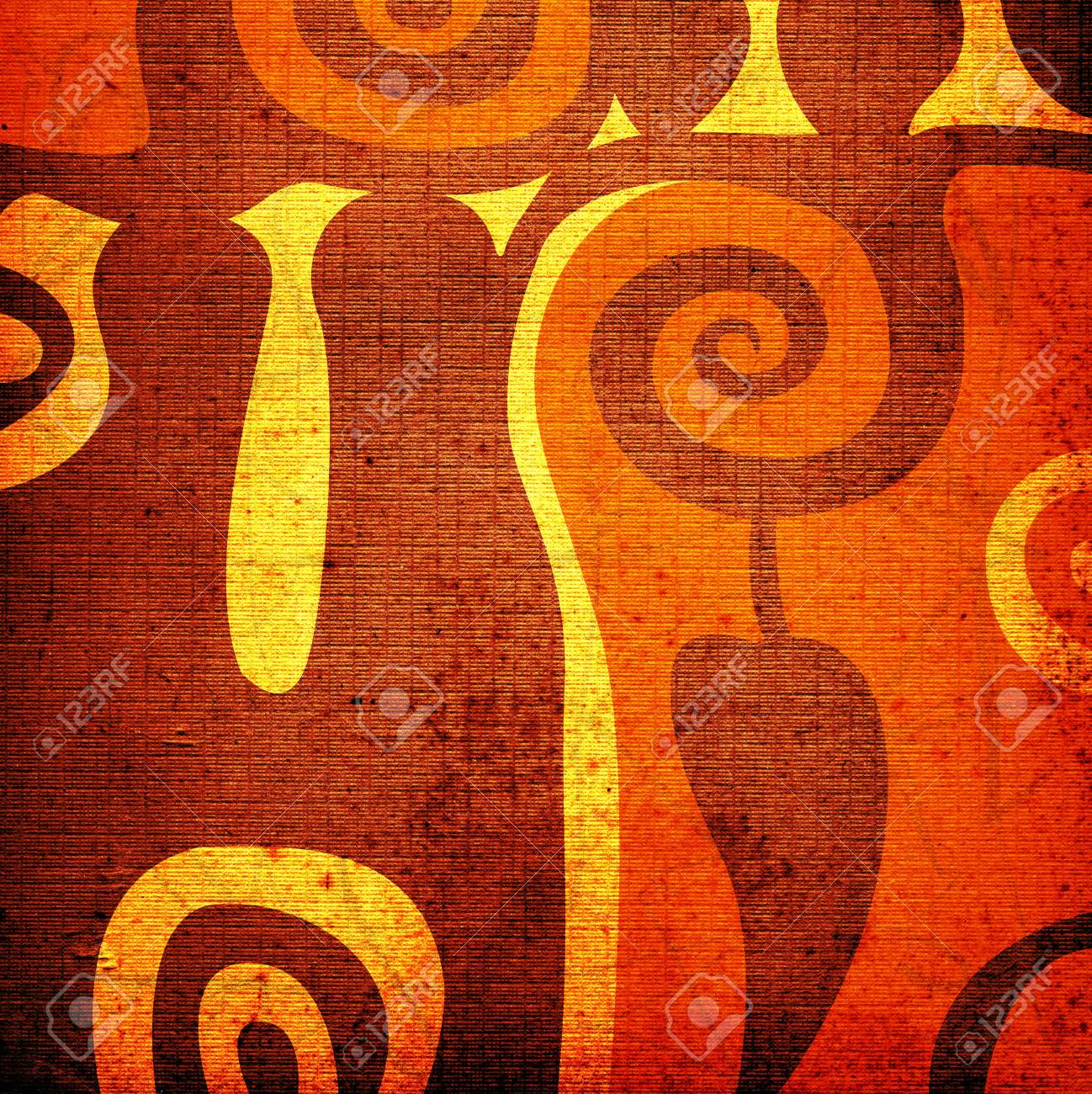 abstract design on grungy background Stock Photo - 732143