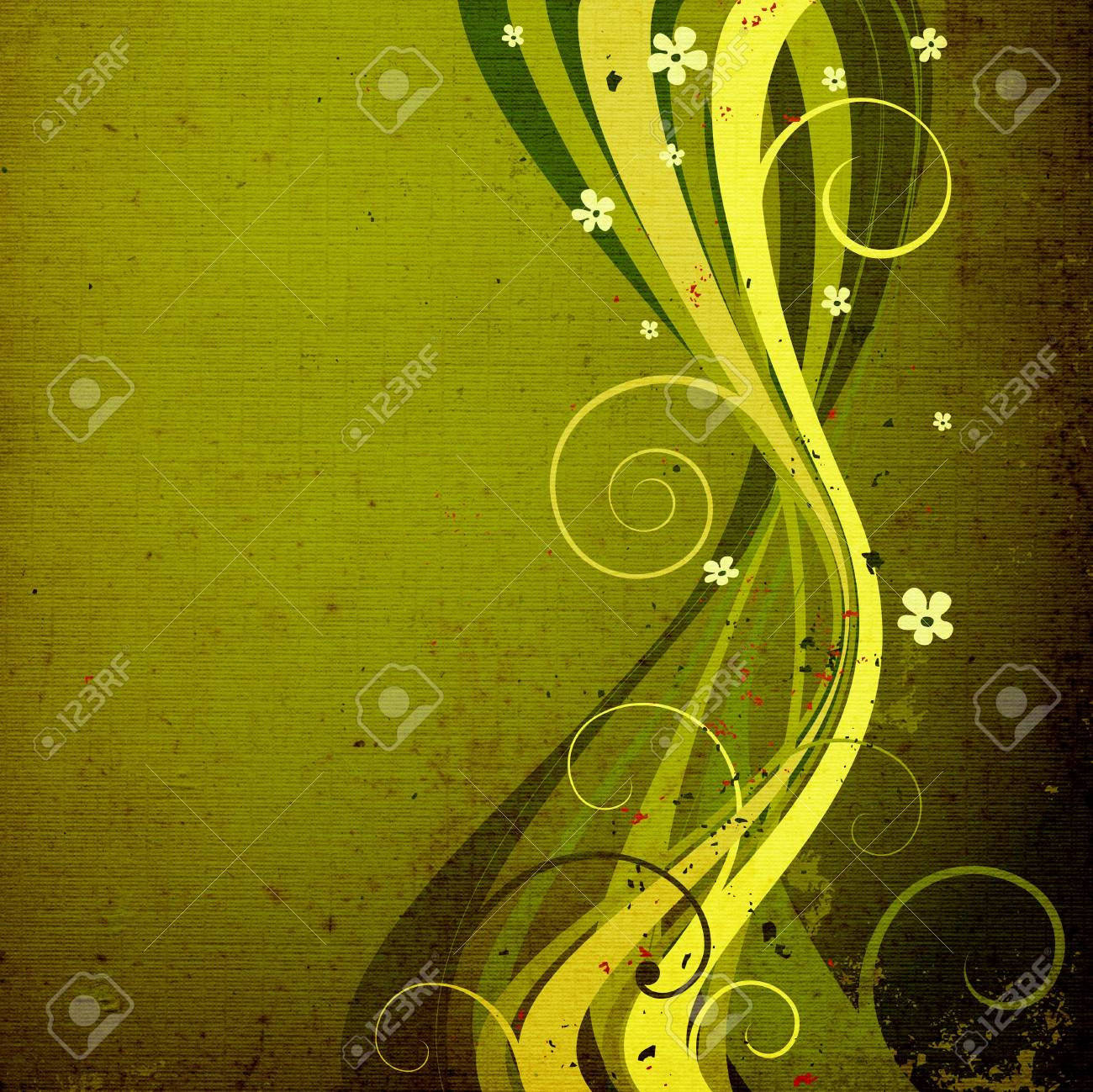abstract decorative composition with foliage, floral design Stock Photo - 1141087