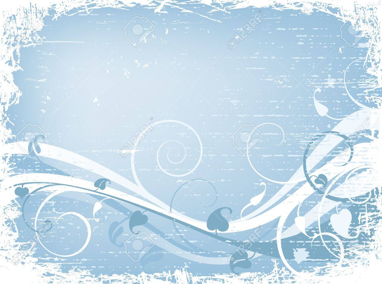 grunge winter design with foliage and snow Stock Photo - 2048391