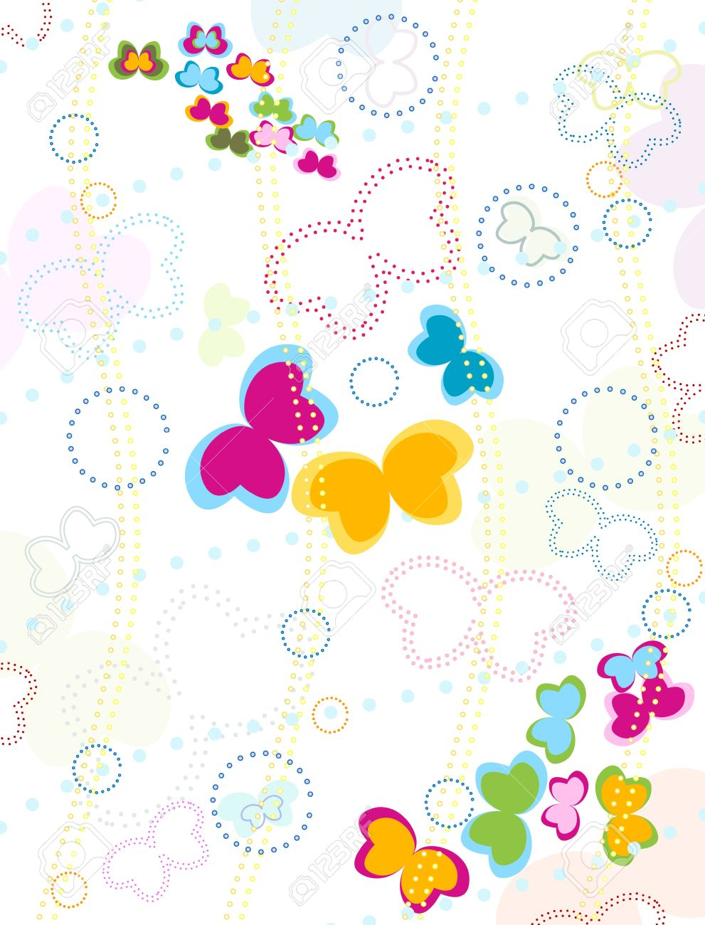 butterflies background for kids stock photo picture and royalty