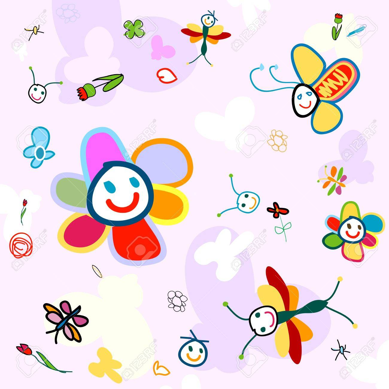 insect background for kids Stock Photo - 5512068