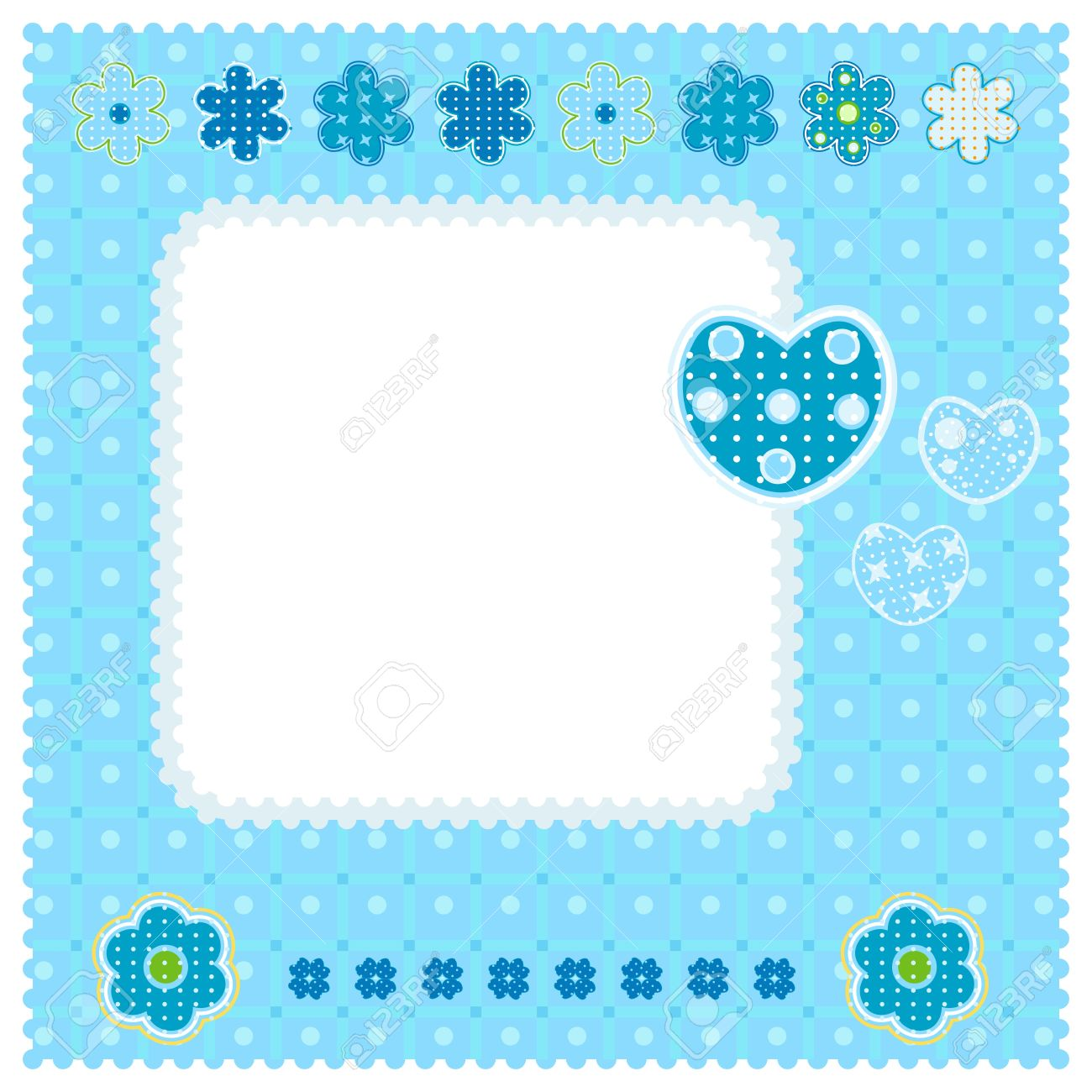Sweet Blue Baby Boy Love Design Stock Photo, Picture And Royalty ...