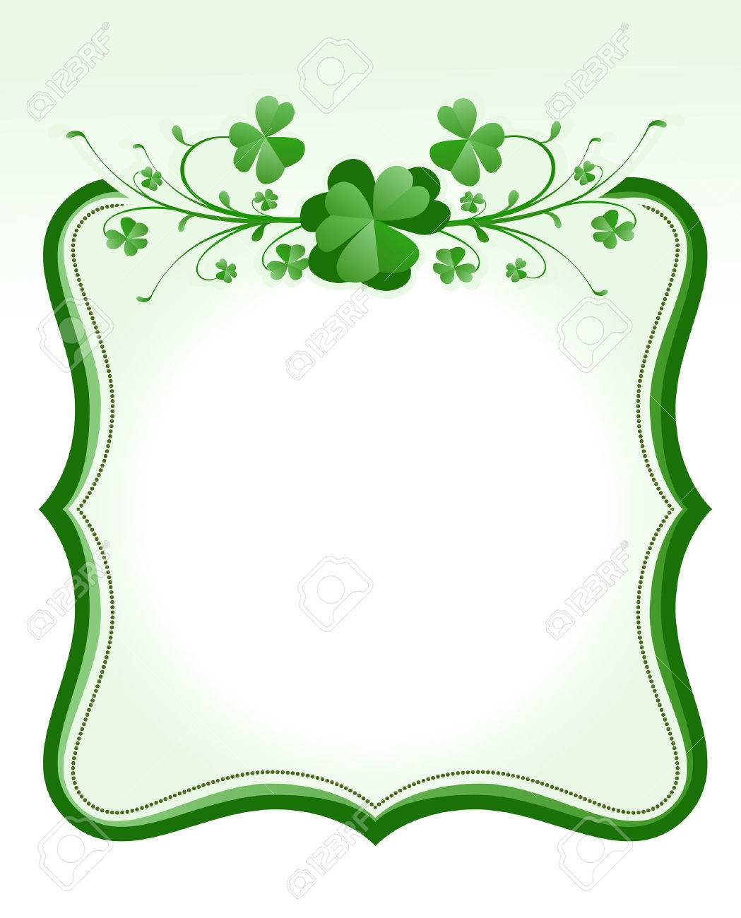 vintage style St. Patrick`s Day frame Stock Vector - 6570342