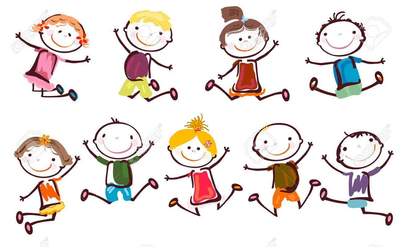 vector jumping kids - Cartoon Children Pictures
