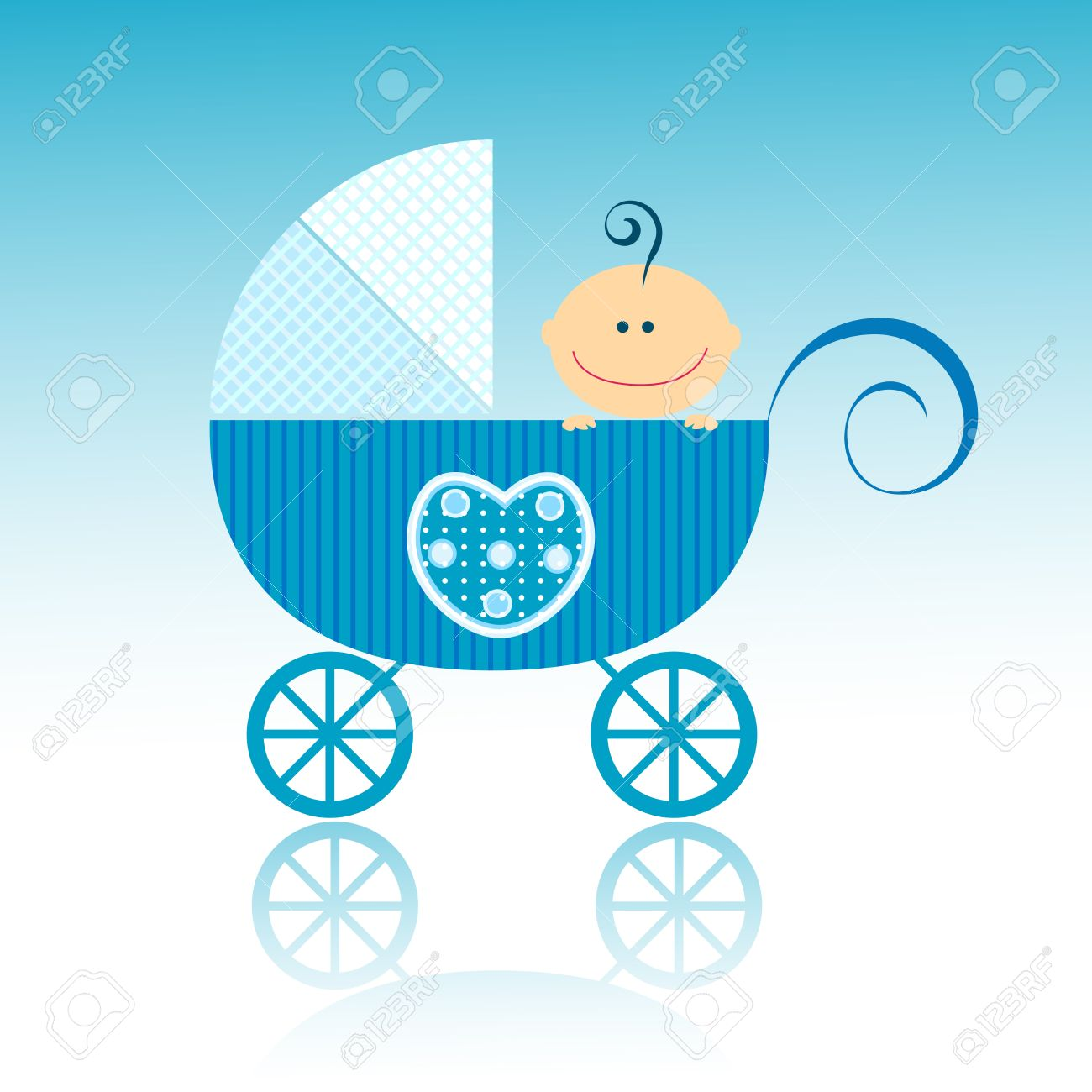 baby arrival design, baby boy in his little carriage stock photobaby arrival design, baby boy in his little carriage stock photo 8913283
