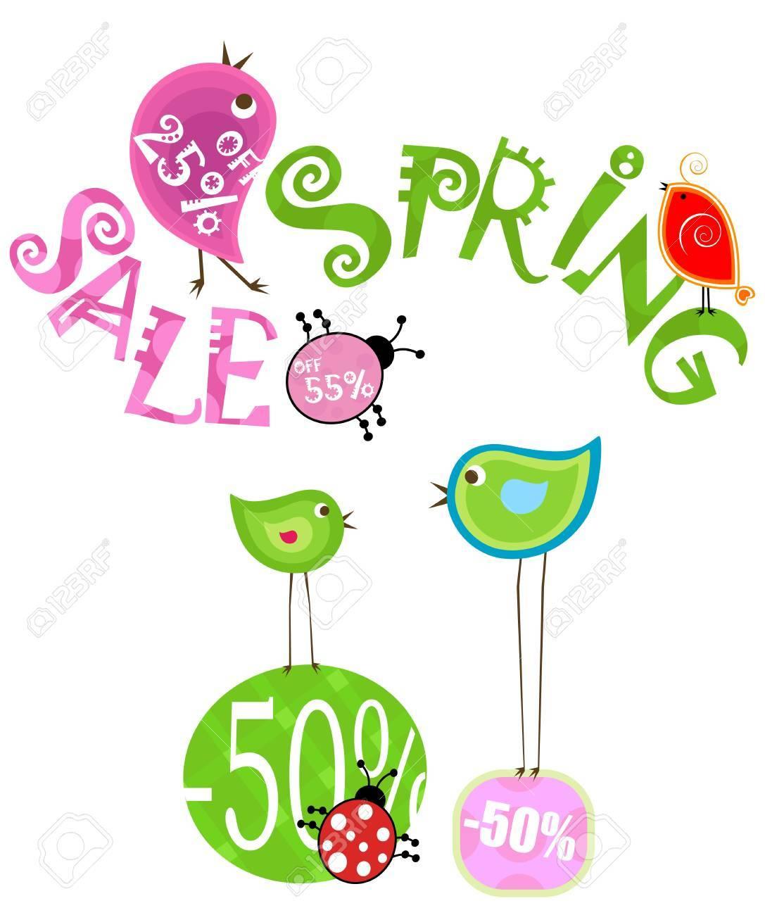 spring sale design Stock Photo - 8913270