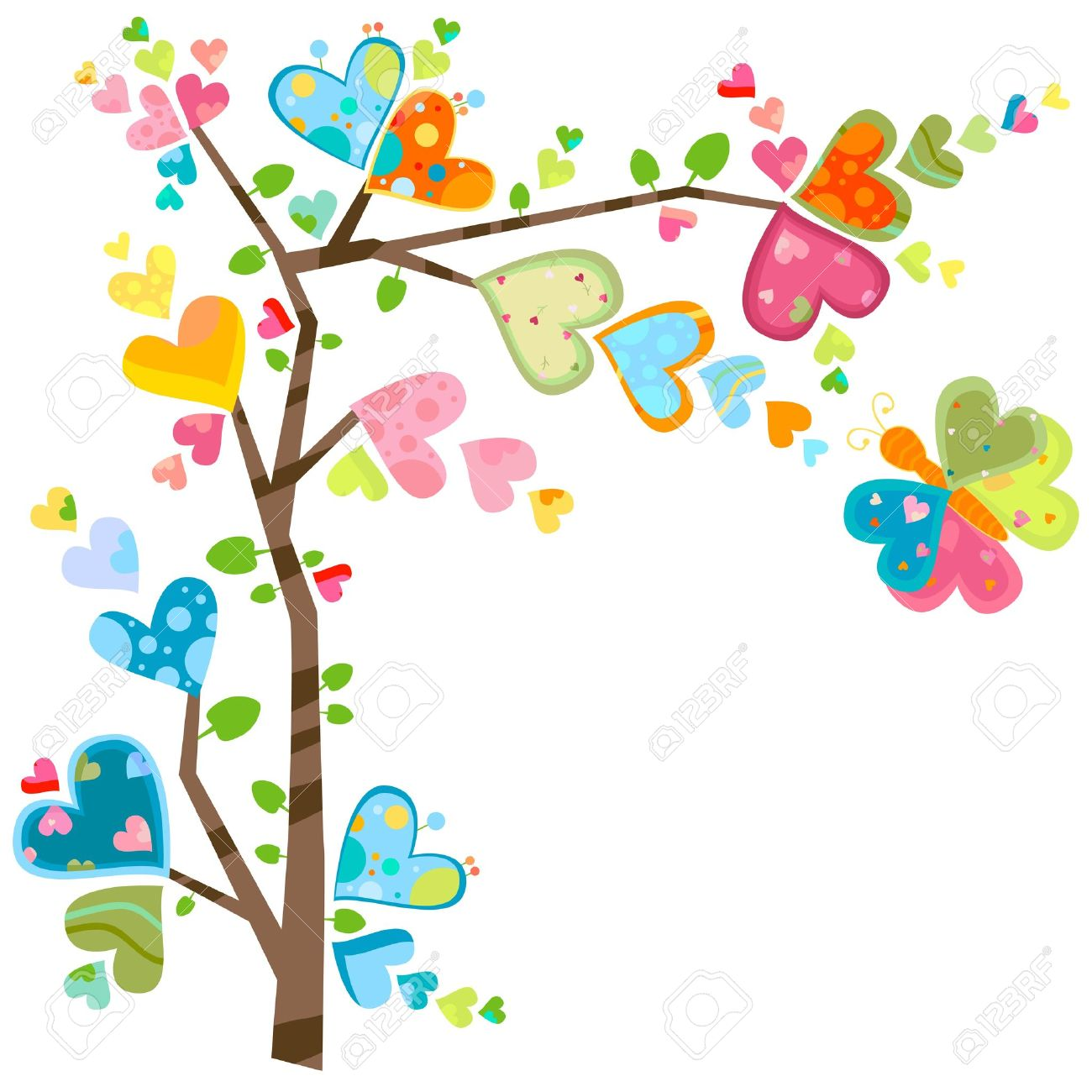 Love And Flower Tree In Spring Royalty Free Cliparts Vectors And Stock Illustration Image 12428610