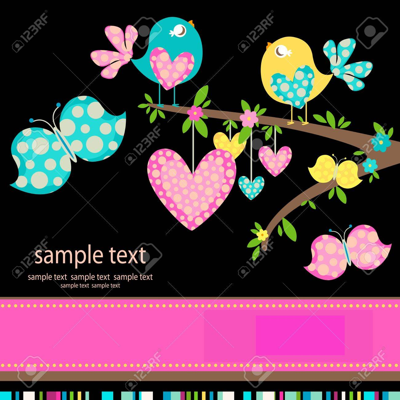 spring birds in love Stock Vector - 12428611