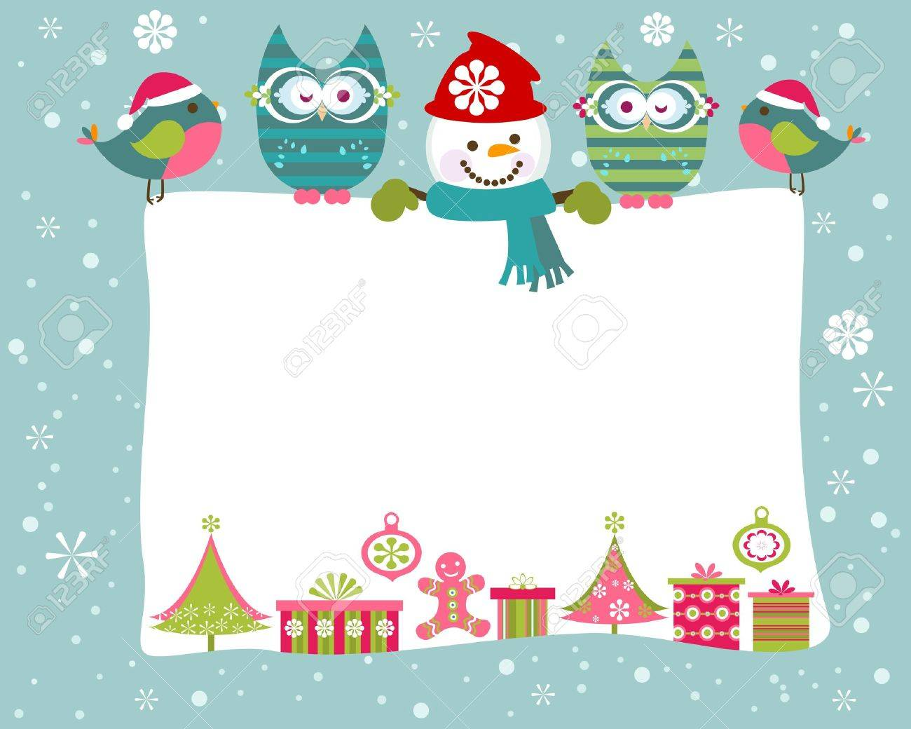Christmas And New Year Greeting Card Royalty Free Cliparts, Vectors ...
