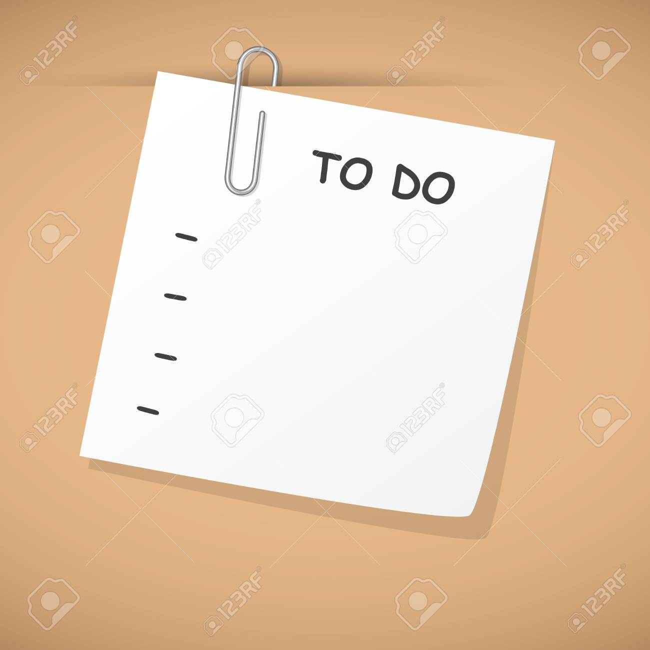empty to do list hanging on cardboard Stock Vector - 20753014