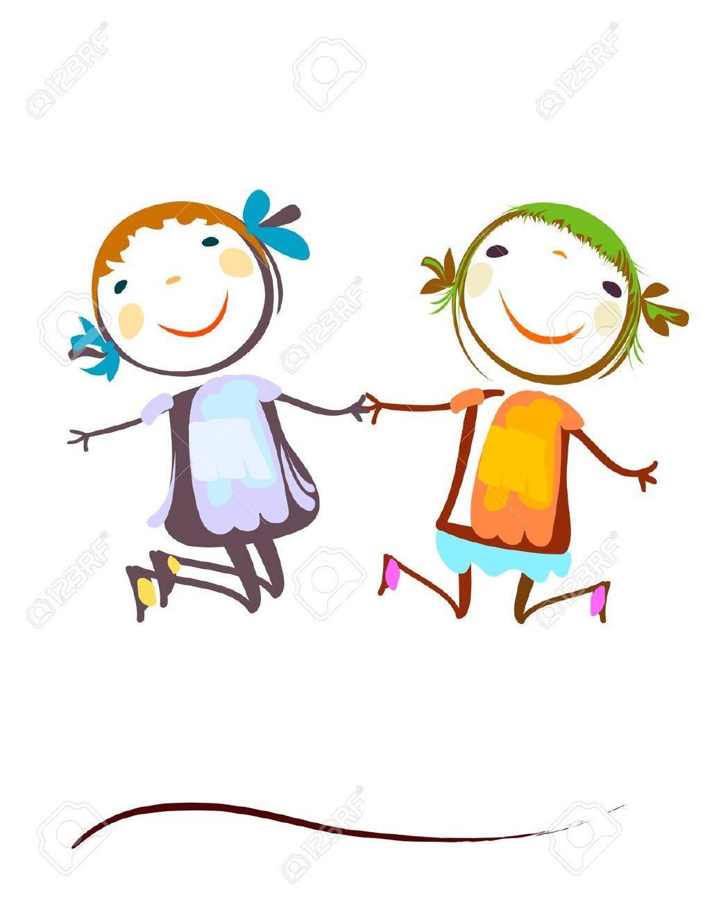 happy kids jumping - 39980716