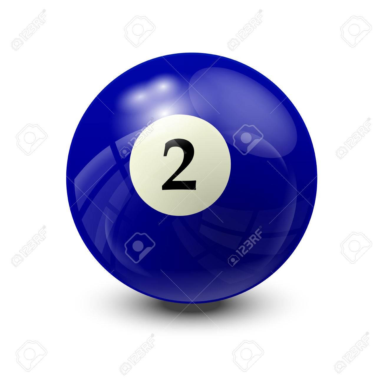La Bola De Billar 2 Diseño Realista Del Vector Ilustraciones Vectoriales Clip Art Vectorizado Libre De Derechos Image 55453741