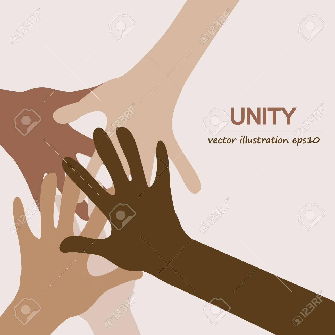 hands diverse unity background - 55453752