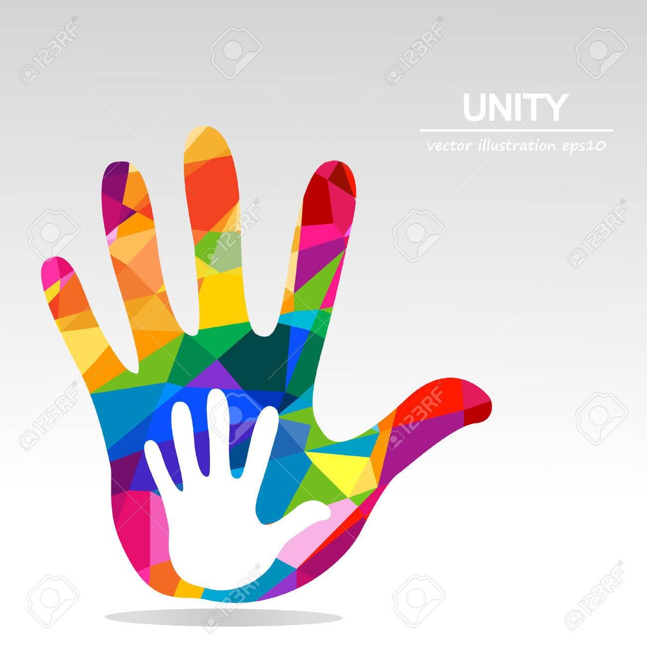 hands helping illustration background - 55948874