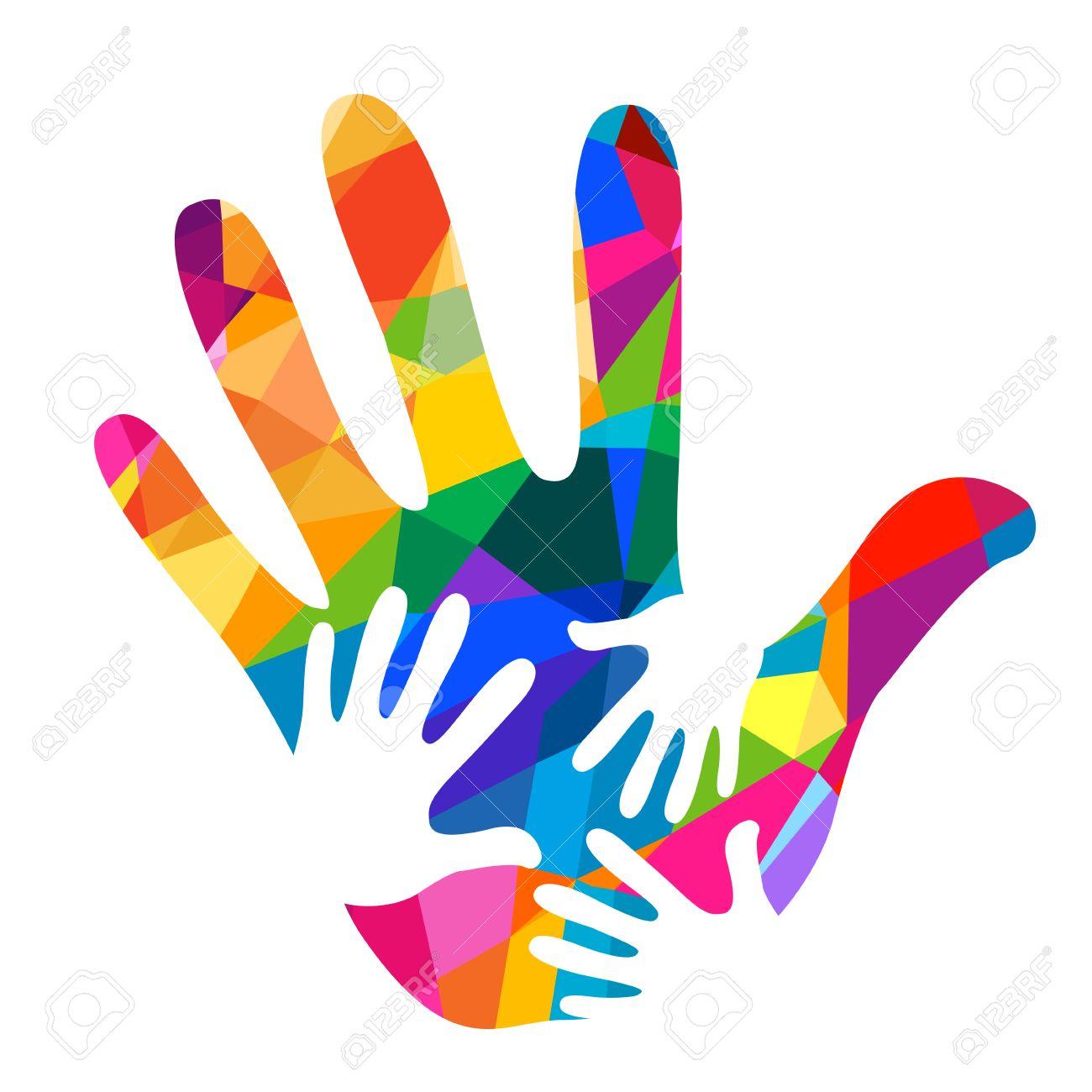 hands helping illustration background - 55948888