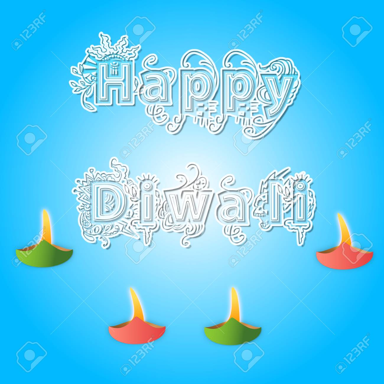 Happy diwali greetings with diwali lights stock photo picture and happy diwali greetings with diwali lights stock photo 75571280 m4hsunfo