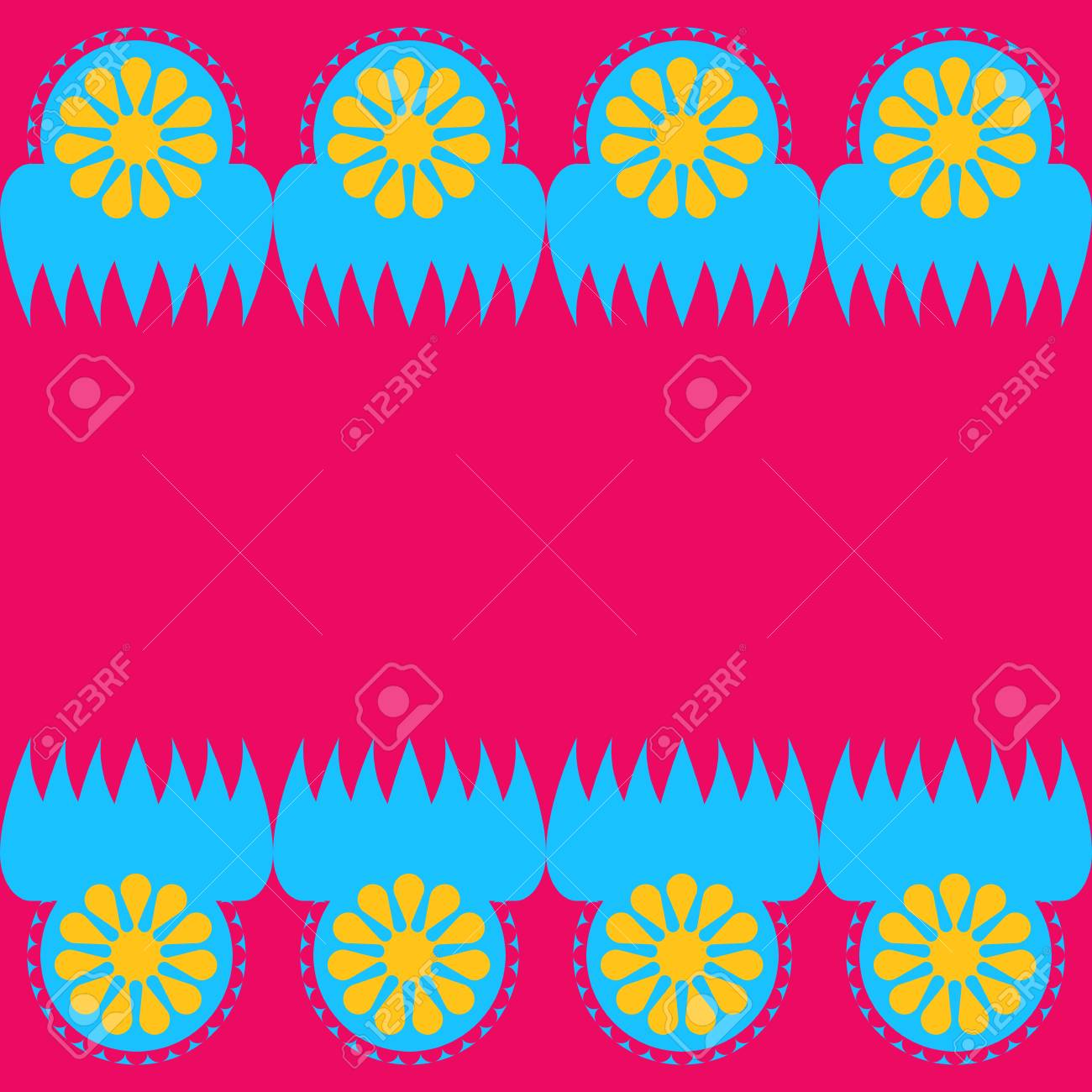 Ornamental geometric design in pink and blue background  template vector illustration Stock Vector - 79888792