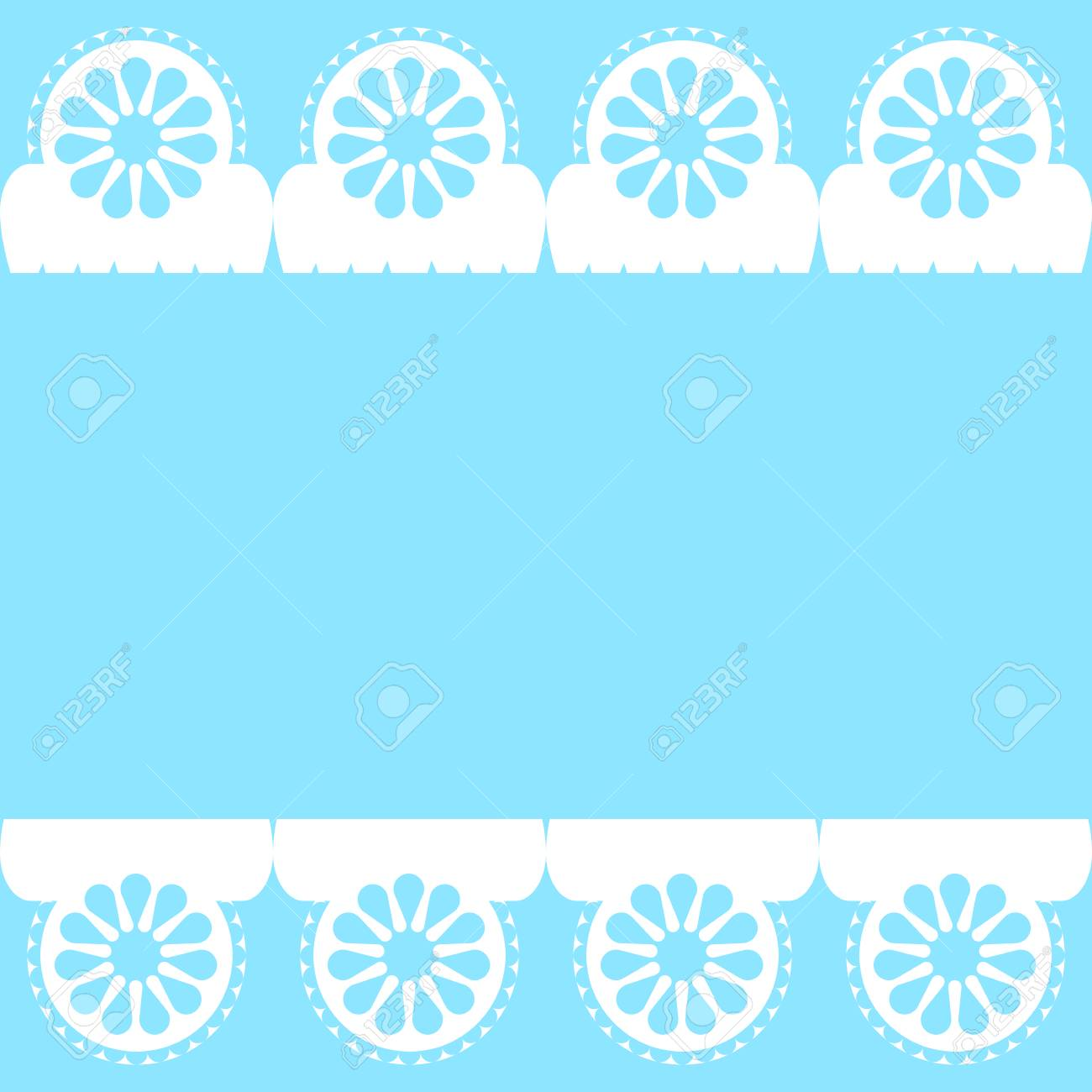 Ornamental geometric design in blue and white background  template vector illustration Stock Vector - 79888794
