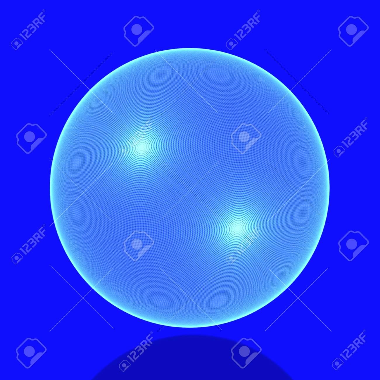Meshy sphere in blue Stock Photo - 6918735