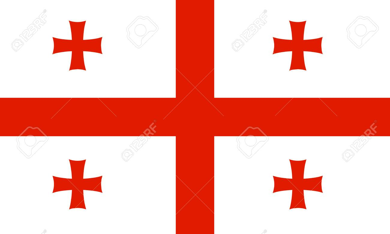 Georgia flag Stock Vector - 7825563