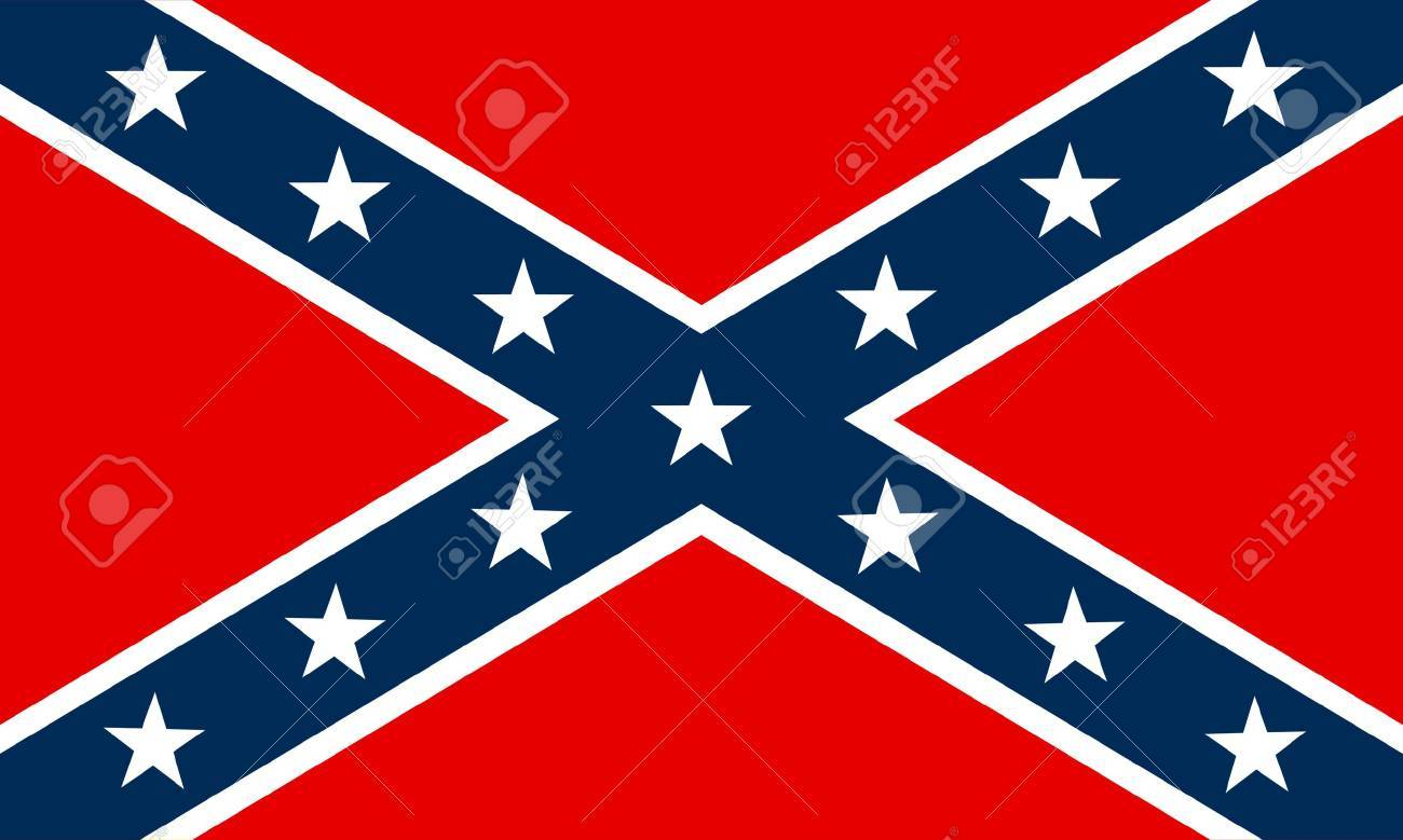 flag of Confederate Stock Vector - 7829508