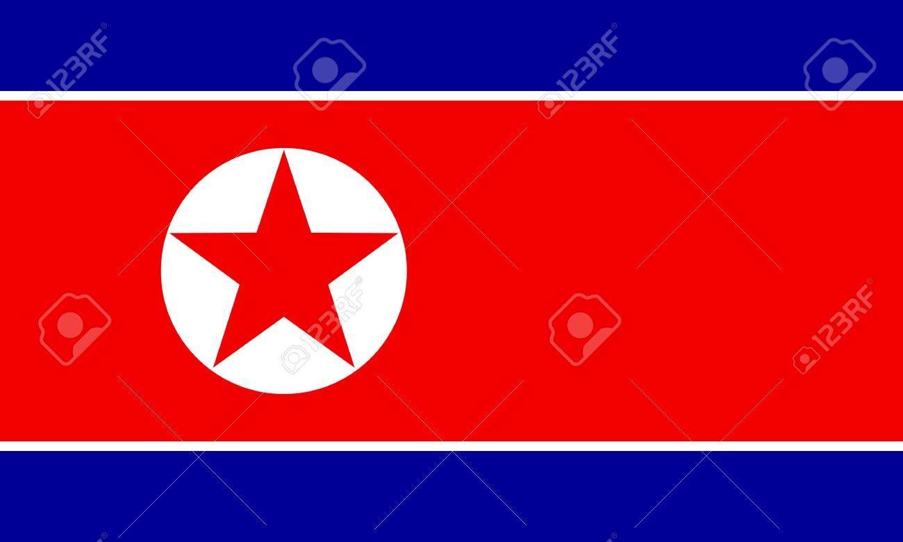 korea-North flag Stock Vector - 7825672