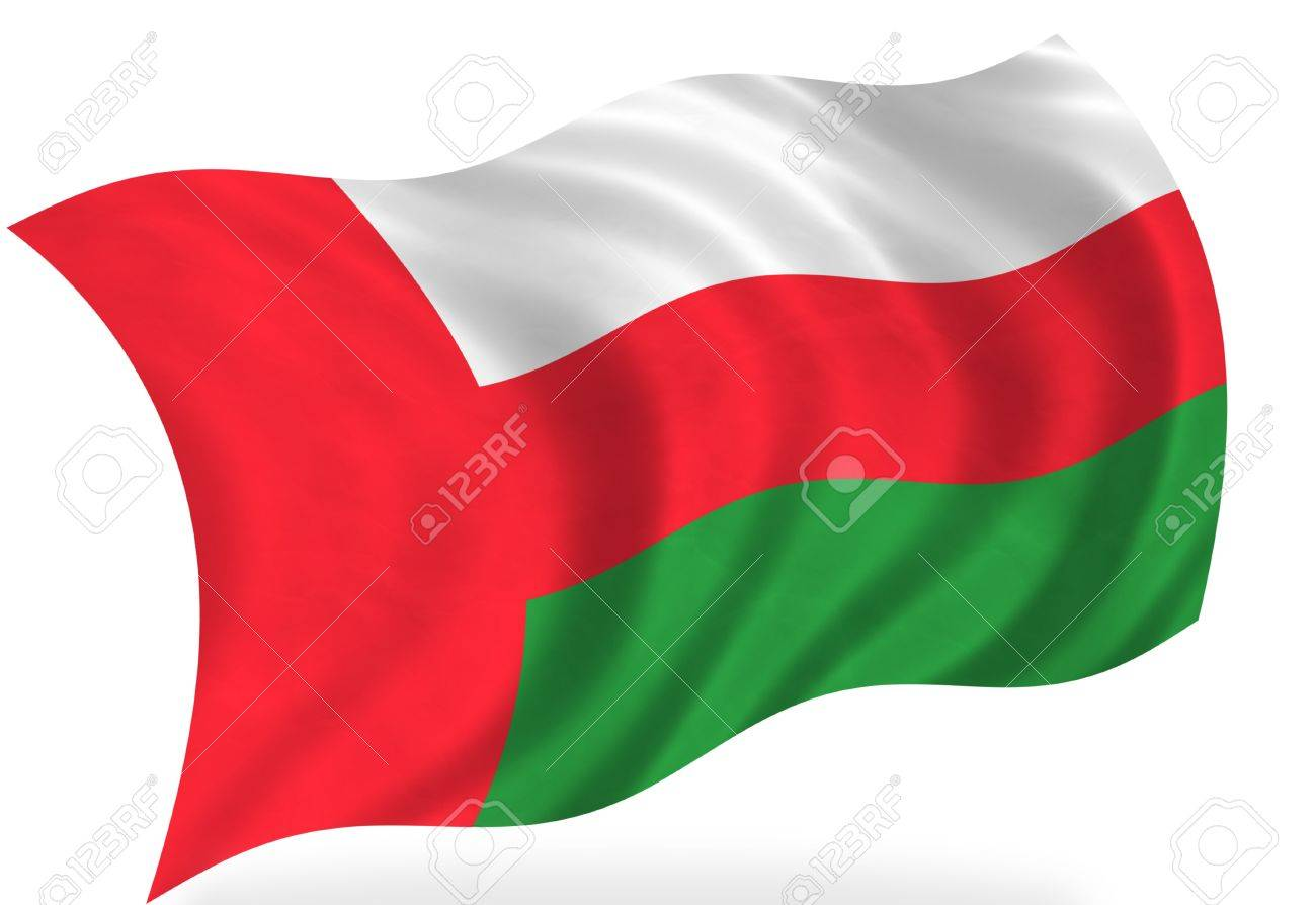 Oman  flag, isolated Stock Photo - 7928305