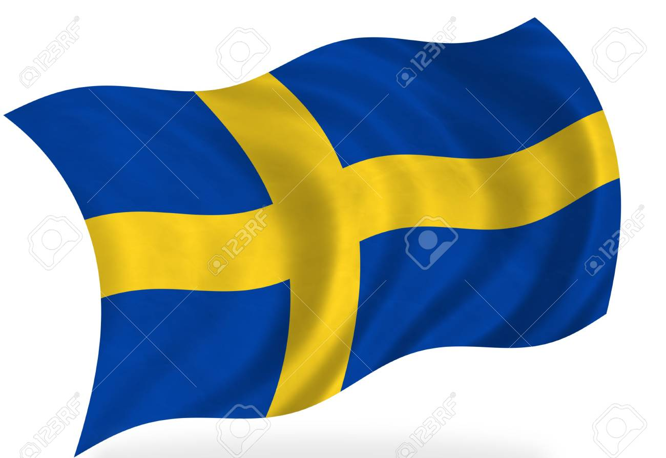 Sweden  flag, isolated Stock Photo - 7928385