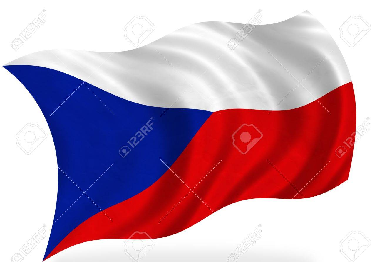 Czech Republic flag, isolated Stock Photo - 7928287