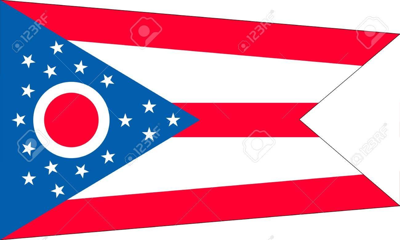 Ohio (USA) flag Stock Vector - 8310651