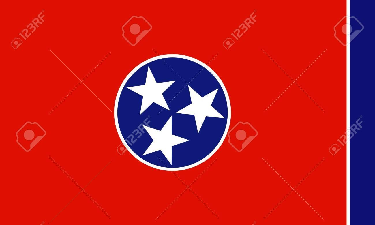 Tennessee (USA) flag Stock Vector - 8310644