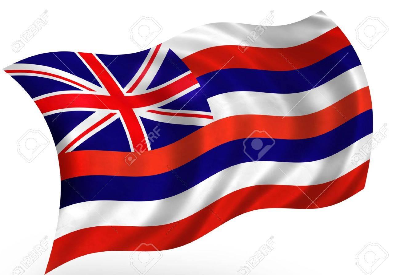 Hawaii (USA) flag Stock Photo - 8364300