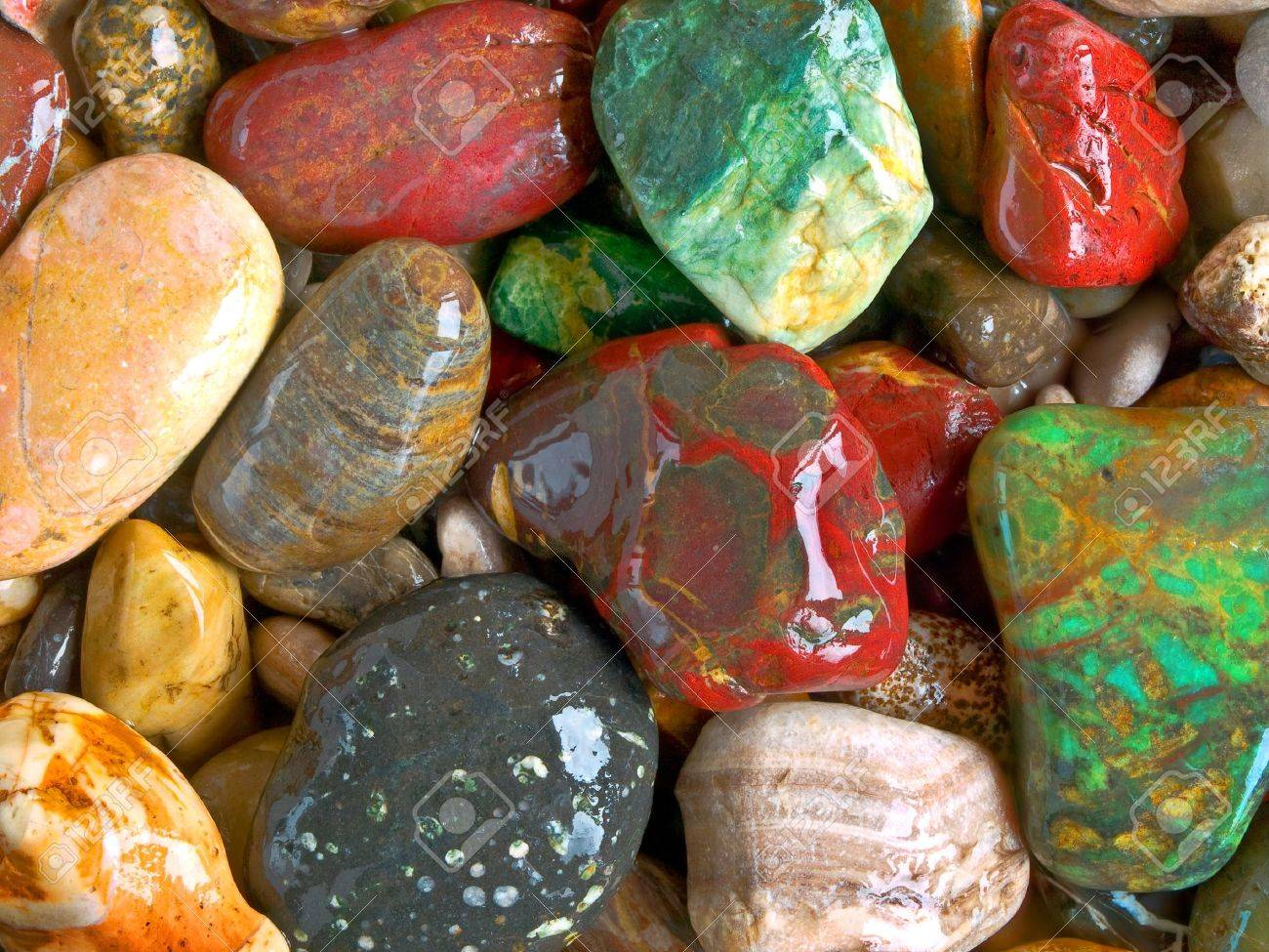 decorative pebbles closeup stock photo 8703359 - Decorative Stones