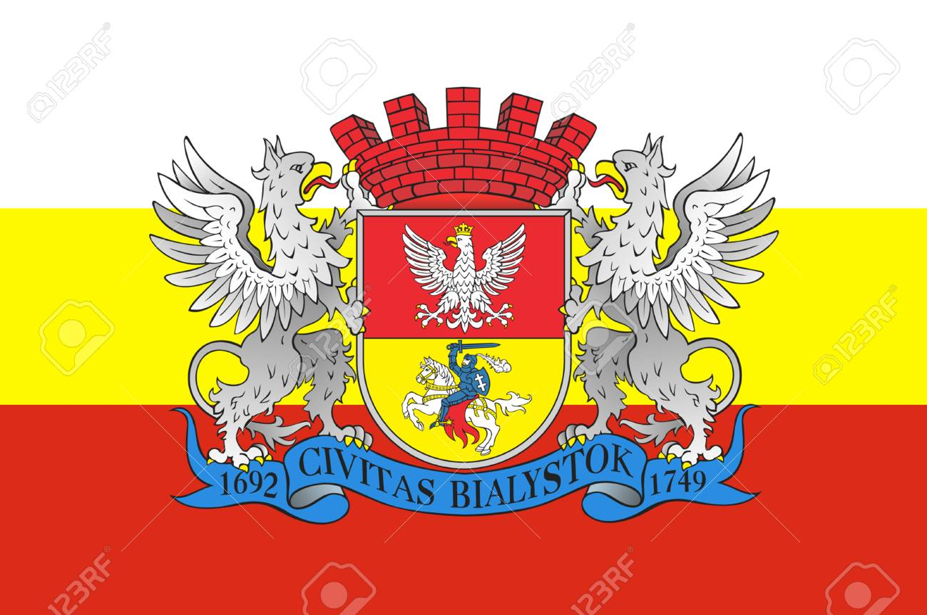 Flag Of Bialystok In Podlaskie Voivodeship In Northeastern Poland Stock Photo Picture And Royalty Free Image Image 66854614
