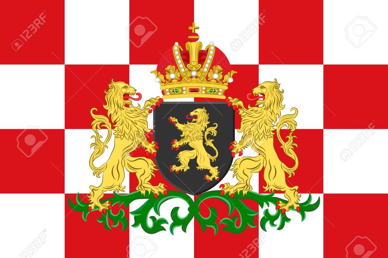 北ブラバント州の旗は、オランダ...