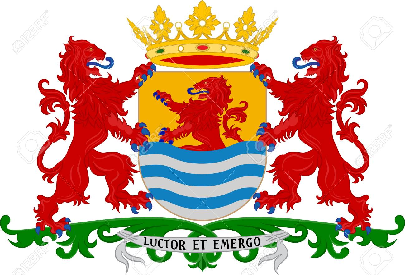 Les Armoiries De Zélande Sont La Province La Plus Occidentale Des ...