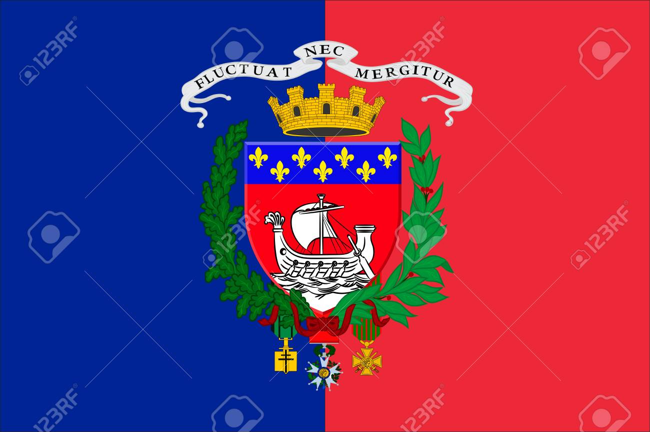 Flag Of Paris Is The Capital And Most Populous City Of France ...