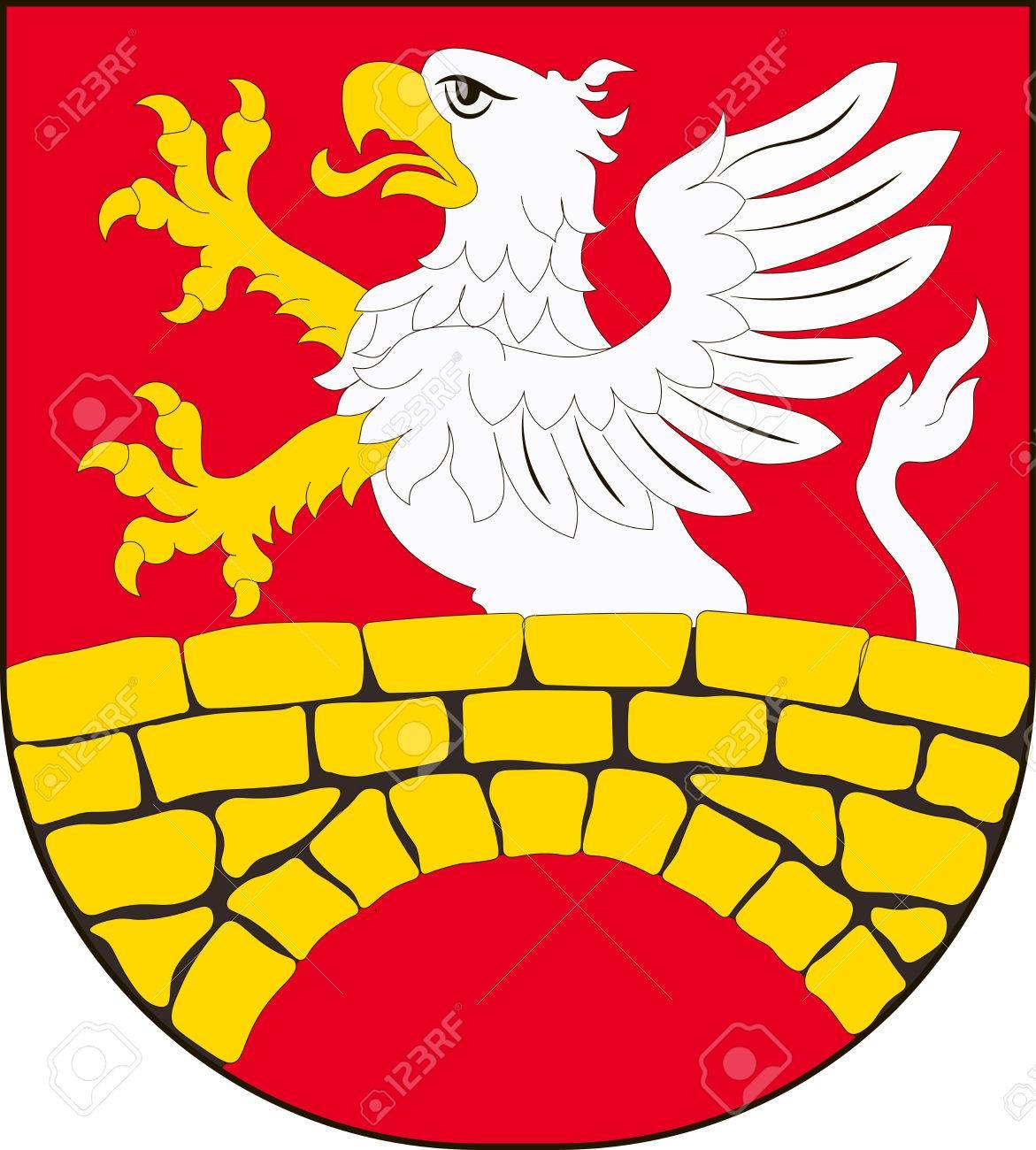 Gmina ザモシチの国章は、ポーラ...