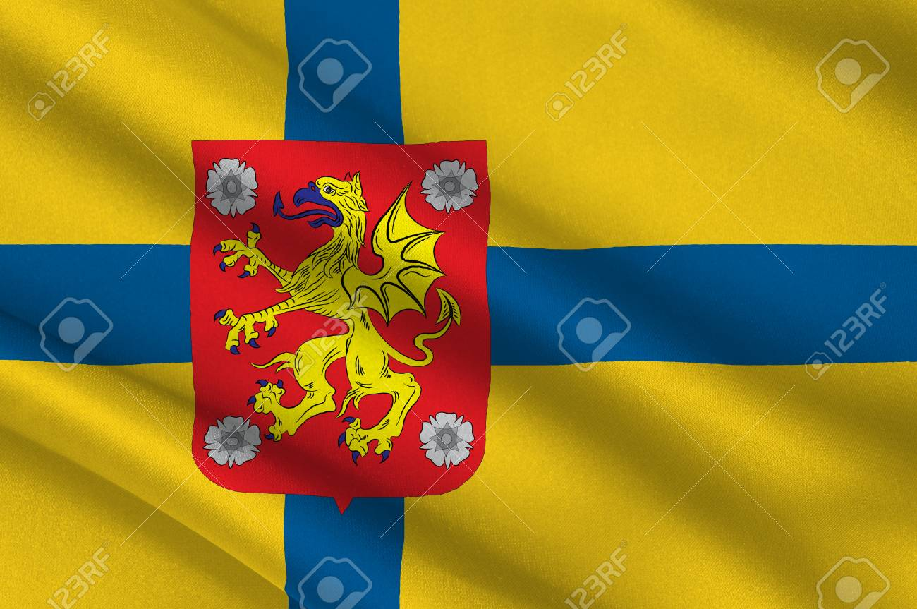 Flag Of Ostergotland County In Southeastern Sweden 3d Illustration Stock Photo Picture And Royalty Free Image Image 93288403