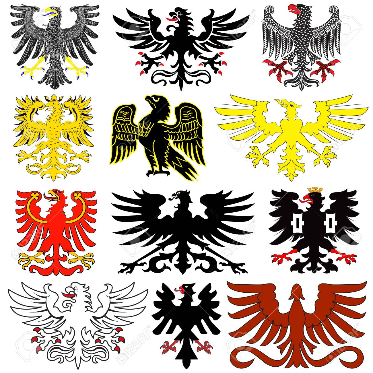 Nytorian Empire Coatsoarms - Double Headed Eagle Drawing Clipart (#4170934)  - PinClipart