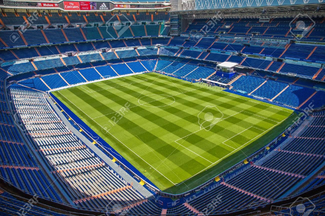 ayer Dejar abajo estaño  Santiago Bernabeu Stadium Of Real Madrid On May 2015 Stock Photo, Picture  And Royalty Free Image. Image 42767776.