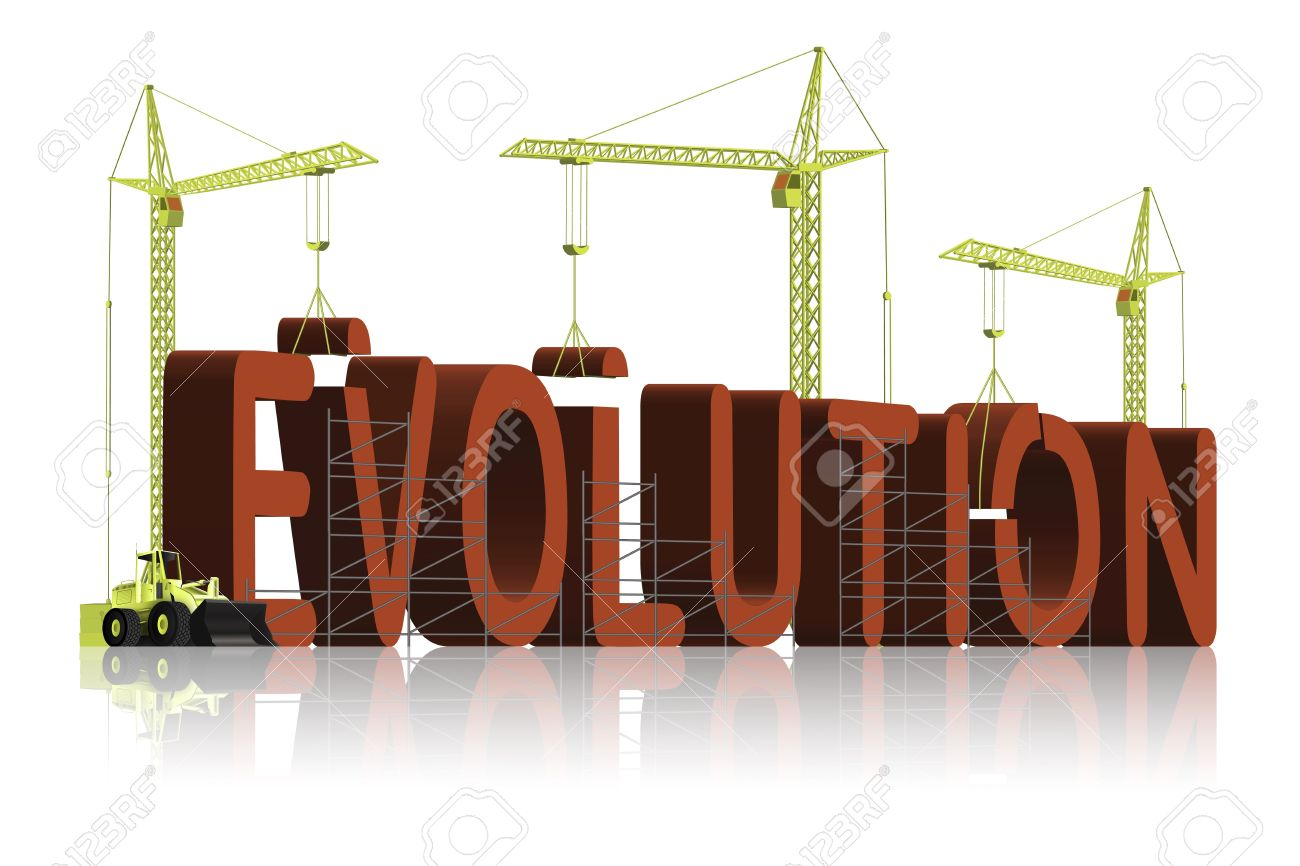 The Origin Of Evolution, Tower Cranes Constructing 3d Word Stock Photo    6542747  Origin Of The Word Free