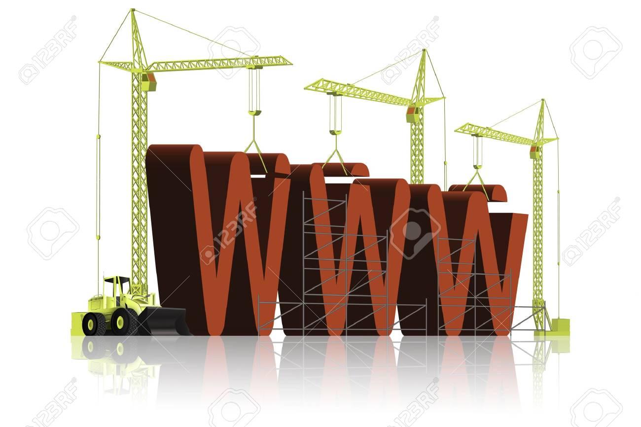 building a website Stock Photo - 6550460