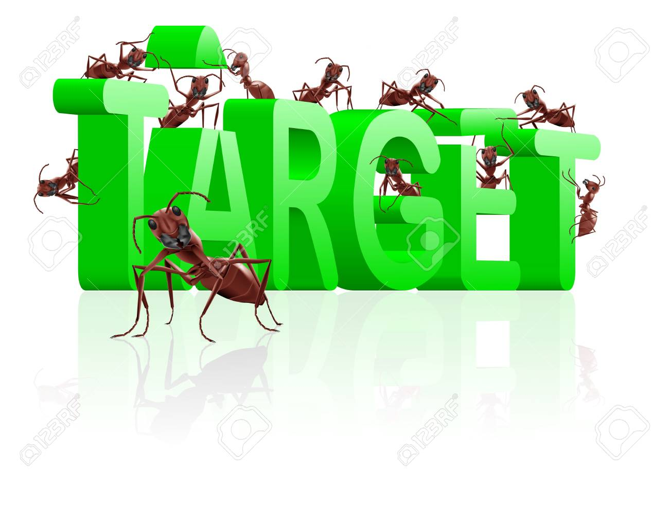 target building aim at goal be successful realise dream Stock Photo - 7790387