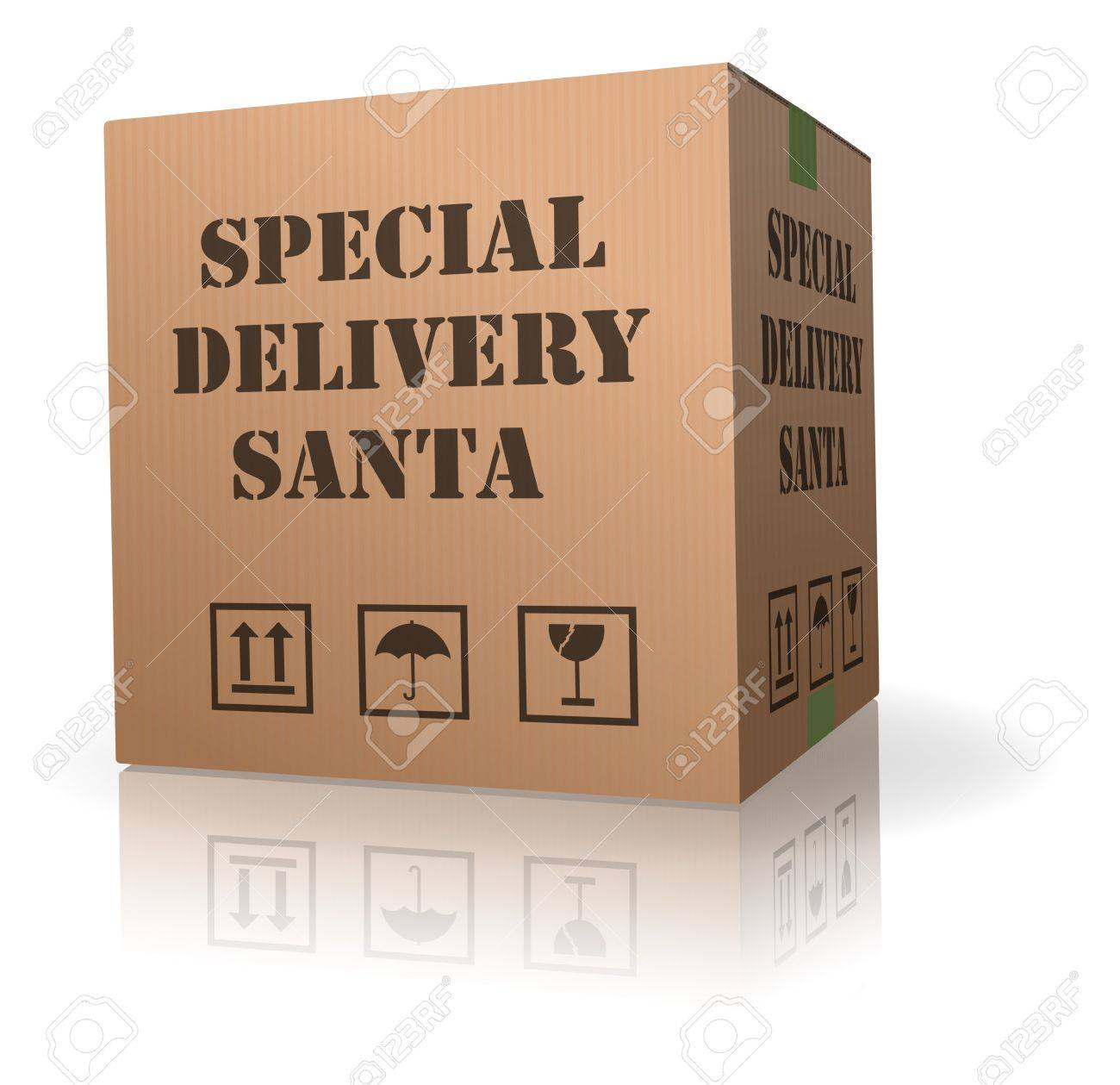 santa package special delivery for chistmas present of gift Stock Photo - 8013046