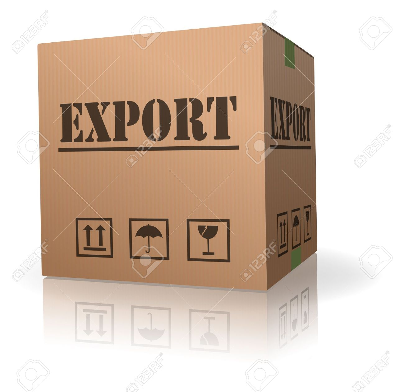 export sending package international trade parcel delivery Stock Photo - 8013012