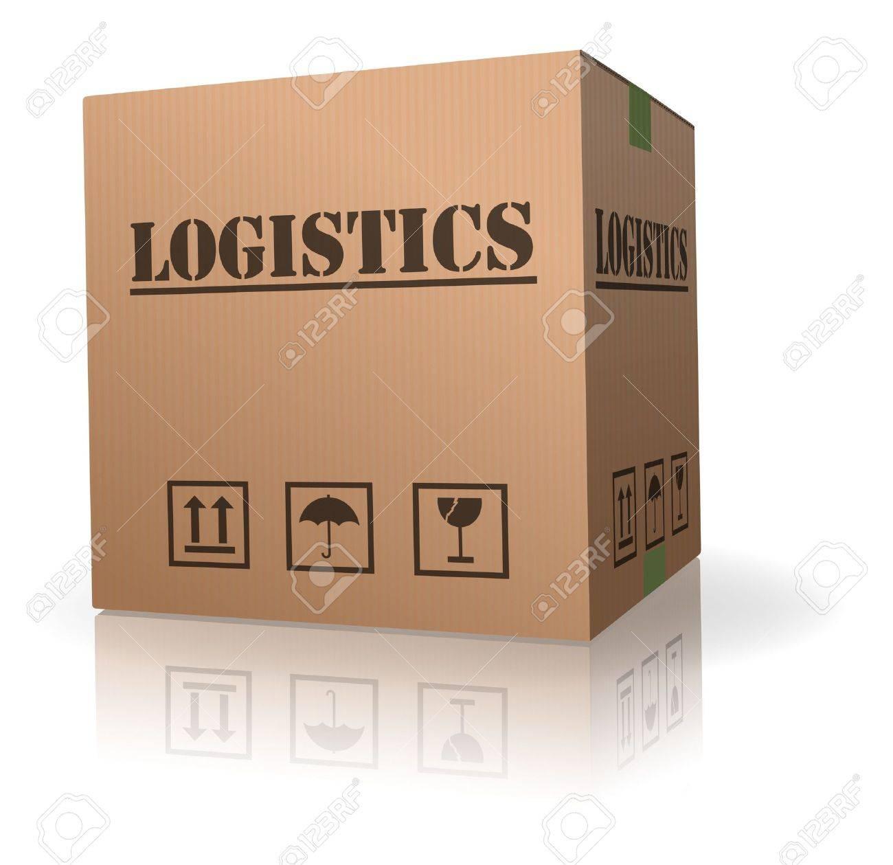cardboard box logistics storage container Stock Photo - 8108283