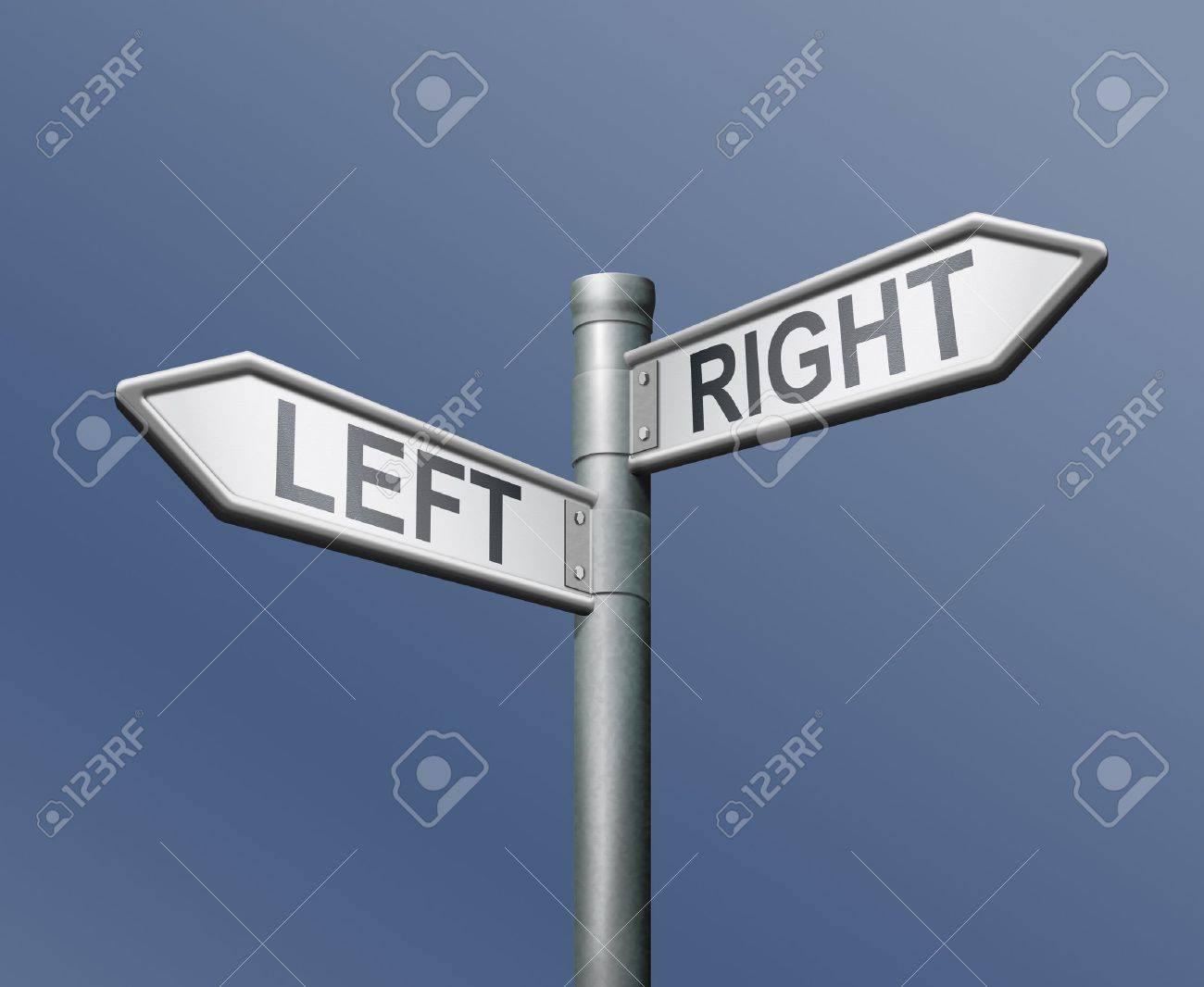 left right road sign equal choice Stock Photo - 8363710